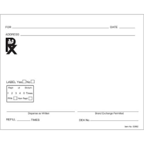 Prescription Pad Template Prescription Pad Template Rxpads Home Prescription