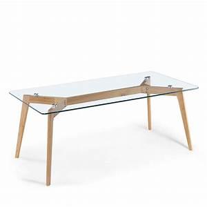 Table En Verre Rectangulaire : table basse rectangulaire verre et bois ingmar by drawer ~ Teatrodelosmanantiales.com Idées de Décoration