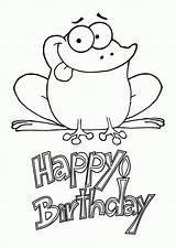 Coloring Birthday Happy Printable Card Frogs Husband Elsa Cards Frog Funny Sheets Colouring Adults Worksheets Sloth Dog Take These 5th sketch template