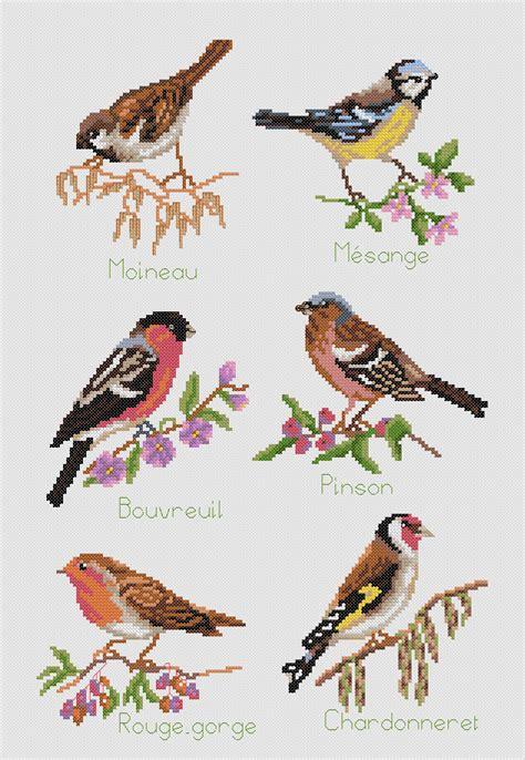 kit point de croix les oiseaux ets anne loison
