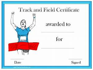 Generic Award Certificate Track And Field Certificate Templates Free Customizable