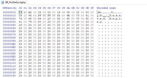 decompress decompressing  replay file reverse