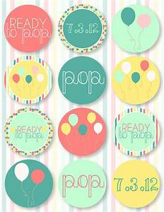 4 best images of ready to pop baby shower free printables With ready to pop stickers template