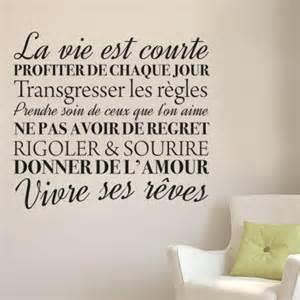 Phrase Profiter De La Vie by Stickers Muraux Citation La Vie Est Courte En Profiter