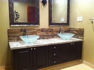Bathroom Backsplash - Mediterranean - Bathroom - Calgary