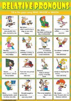 english exercises relative pronouns