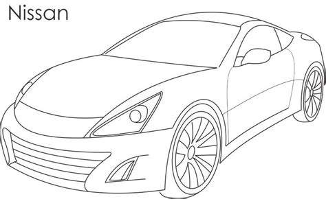super car nissan coloring page for kids nissan car