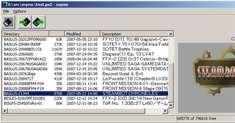 mymc  ps memory card image utility playstation