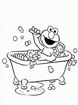Elmo Coloring Bathroom Activity Printable Bath Children Colouring Bestappsforkids Cad Getdrawings Popular sketch template