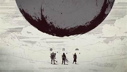 Destiny Minimal Desktop Planet Pc Backgrounds Warriors