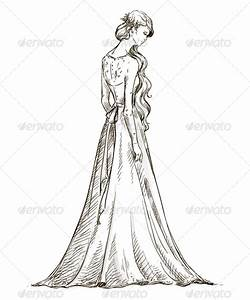 Bride. Girl in a Wedding Dress | GraphicRiver