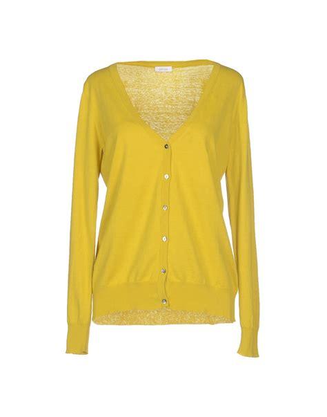 yellow cardigan sweater gold cardigan in yellow lyst