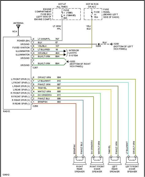 1996 Ford Thunderbird Stereo Wiring Diagram by Radio Install 95 F250 Different Colors Then Diagrams