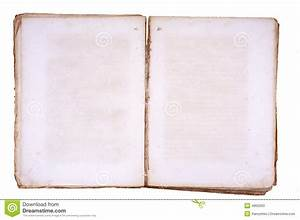 Old Book Open On Both Blank Pages. Stock Photos - Image ...