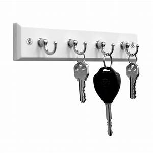 Home, Basics, 4, Hook, Wall, Mounted, Key, Holder, Rack, For, Entryway, Kitchen, Bedroom, Organize, Car, Keys