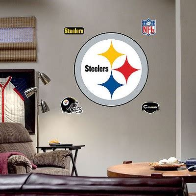 steelers kitchen accessories pittsburgh steelers logo wall decor target 2507