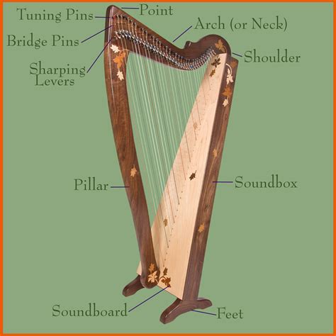 Parts Of The Lever Harp — Rees Harps Inc
