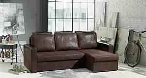 decorer et amenager avec le style industriel darty vous With canapé d angle cuir vieilli