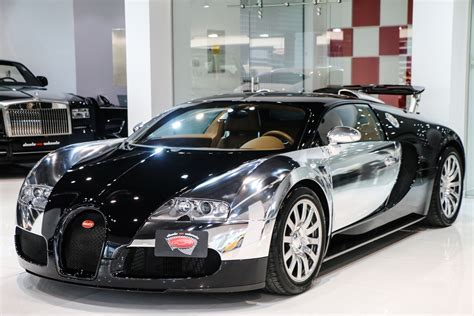 Stunning Chrome And Black Bugatti Veyron For Sale