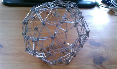 advanced office supply sculpture paperclip dodecahedron