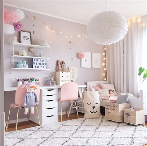 A Scandinavian Style Shared Girls' Room  By Kids Interiors