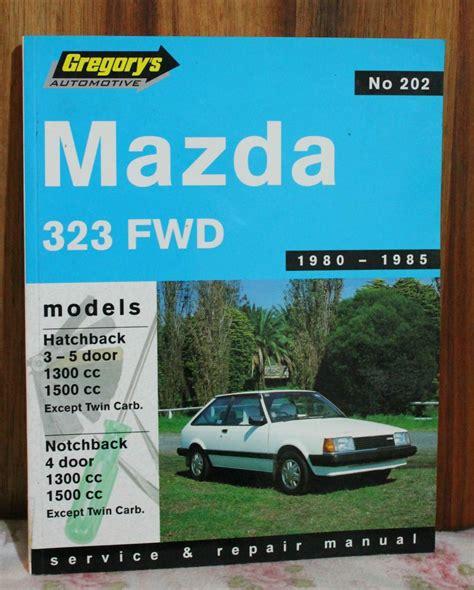 motor auto repair manual 1995 mazda 323 auto manual gregorys car manual no 202 mazda 323 fwd 1980 1985 s c 2000 version asnew mi4 ebay