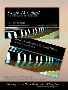 music teacher piano business cards With music business card design