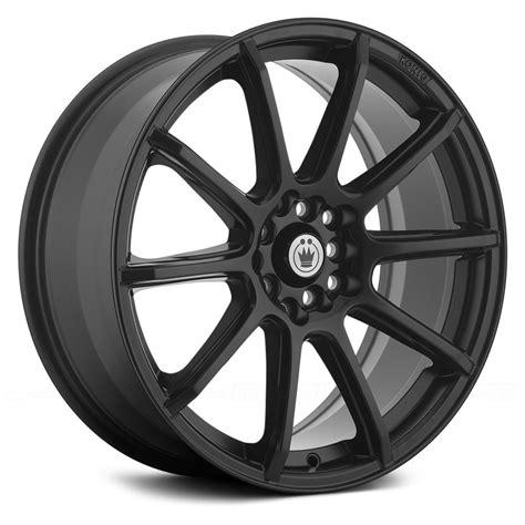 black wheels konig control wheels matte black rims