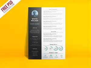 modern curriculum vitae templates free simple and clean resume cv template free psd psdfreebies com