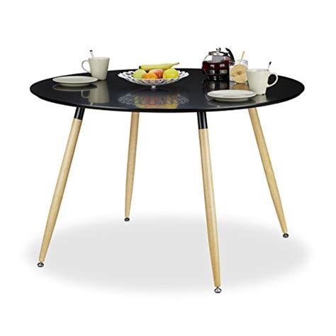 table a manger 8 personnes relaxdays table 224 manger ronde arvid style scandinave 6 8 personnes hxd 75 x 120 cm en bois