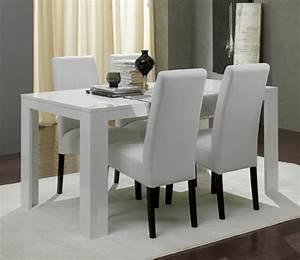 Table Laquee Blanc : table de repas pisa laqu e blanc ~ Premium-room.com Idées de Décoration