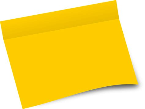 paper clip holder free vector graphic paper office sheet blank yellow