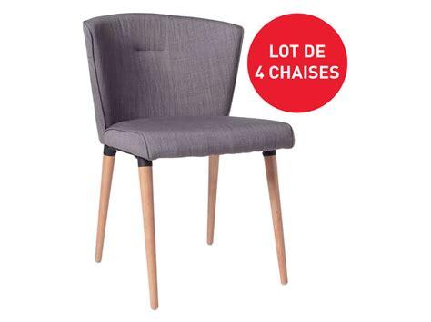 chaise conforama soldes lot de 4 chaises en tissu heidi pas cher chaises