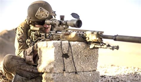 A Scout Sniper With The U.s. Marine Corps Trains In Rabkut