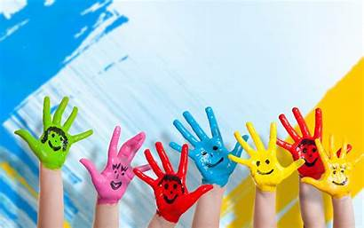 Hands Children Hand Paint Play Toy Positive