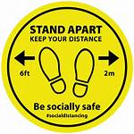 Floor Distancing Social Distance Apart Stickers Keep