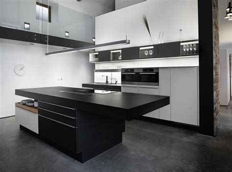 black and white contemporary kitchen cuisine design grange 7843