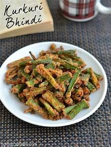 Kurkuri Bhindi Recipe – Crispy Bhindi (Okra) Fry Recipe ...
