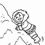Coloring Climb Eskimo Snow Pile Colornimbus Climbing Happy Student Young Very sketch template