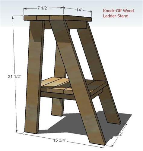pallet wood step stools  ana white  pinterest