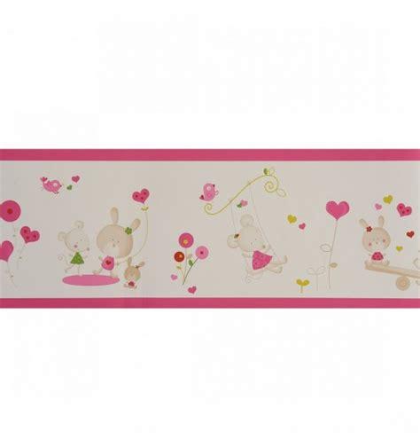 frise papier peint décoration chambre fille