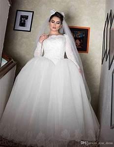 2017 New Basque Waist Princess Wedding Dress Long Sleeve ...