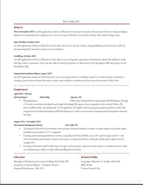 Ios Developer Resume by Ios Developer Resumes In Usa Sidemcicek