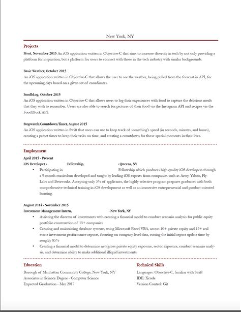 iphone programmer sle resume informatica administrator
