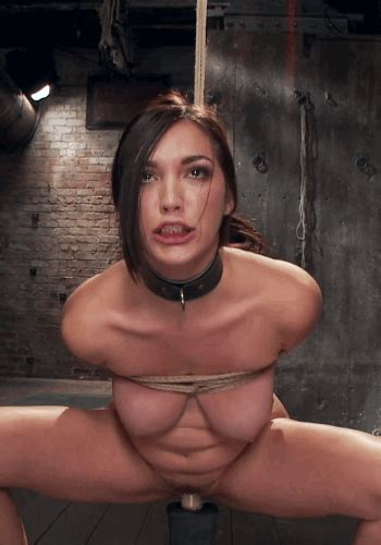 Sexy Ass Brunette Fucks A Suction Dildo