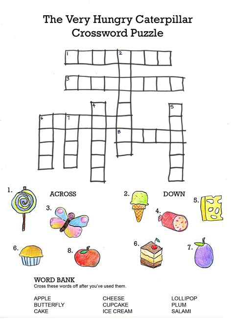 crossword puzzles for middle school students