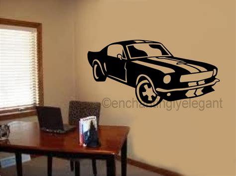 teen boy wall decor mustang shelby car vinyl decal wall sticker office shop 6025