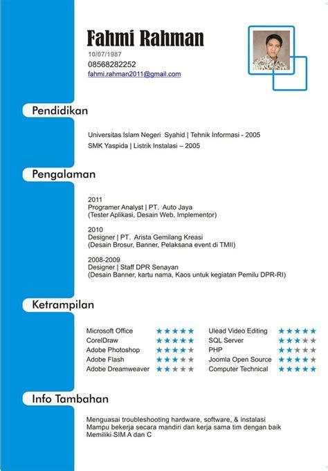 Contoh Curriculum Vitae Yang Benar Doc Example Good Resume Template