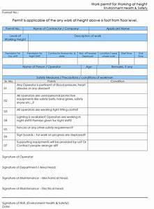 permit to work template word templates station With working at height permit to work template