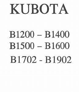 Kubota B1750hst   Support Sav D U00e9pannage Notices Manuels